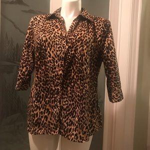 Lane Bryant Leopard print blouse.  Size 20.